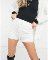 Miss Selfridge Fluffy Shorts Co-ord - Multicolour