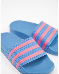 adidas Originals Adelette Sliders - Blue