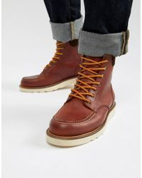 Office - Idyllic Hiker Boots In Red Leather - Lyst