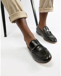 ASOS – e Loafer aus Kunstleder mit Trensendetail - Schwarz