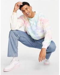 Abercrombie & Fitch Pride Capsule Ice Tie Dye Wash Sweatshirt - Multicolour