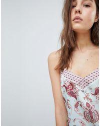 New Look - Satin Print Pyjama Cami Top - Co-ord - Lyst