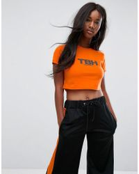 The Ragged Priest - Tbh Cropped T-shirt - Lyst