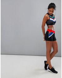 South Beach Stripe Gym Shorts - Multicolor