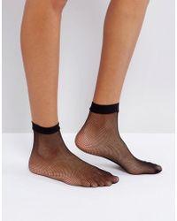 Leg Avenue Fishnet Socks - Black