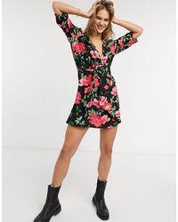 ONLY 3/4 Sleeve Skater Dress - Multicolour