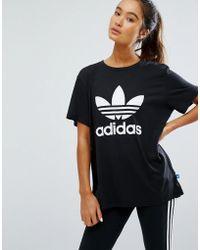 adidas Originals - Originals Adicolour Oversized T-shirt With Trefoil Logo - Lyst
