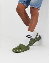 Crocs™ Классическая Обувь Хаки - Зеленый