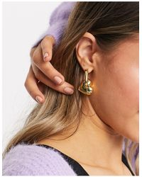 & Other Stories Heart Earrings - Metallic