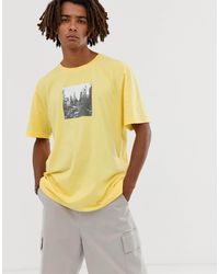 Brooklyn Supply Co. Extreme Oversized T-shirt With City Print - Yellow