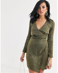 The Girlcode Vestitino scollo profondo con spacco verde