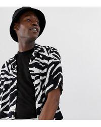 Collusion - Tall Viscose Zebra Print Shirt - Lyst