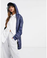 Rains Ярко-синяя Куртка А-силуэта -синий