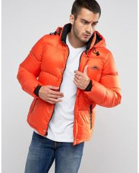 Penfield - Equinox Down Quilted Jacket Detachable Hood In Orange - Lyst