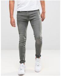 Jack & Jones Intelligence Liam Skinny Fit Jeans - Grey