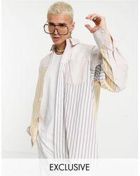 Reclaimed (vintage) Рубашка В Комбинированную Полоску Свободного Силуэта Inspired-многоцветный