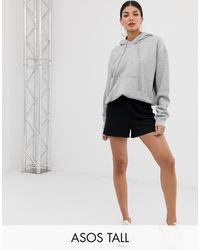 ASOS Asos Design Tall Culotte Shorts - Black