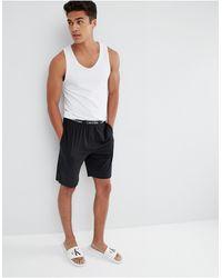 Calvin Klein Черные Классические Шорты Для Дома -черный