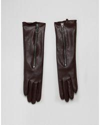 ASOS Long Glove In Brown