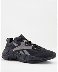 Reebok Running Zig - Sneakers con logo nero e arancione