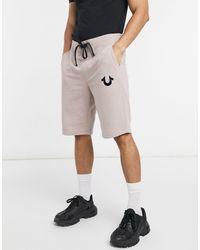 True Religion Shorts deportivos con logo - Rosa