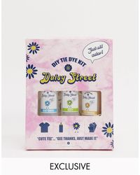 Daisy Street Relaxed T-shirt With Los Angeles Print Diy Tie Dye Kit - Multicolour
