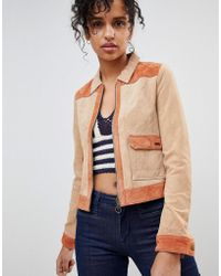 Pepe Jeans - Patchie Western Suede Jacket - Lyst