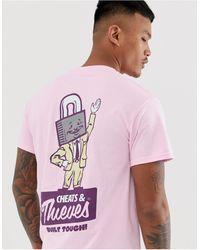 Cheats & Thieves Lock Back Print T-shirt - Pink