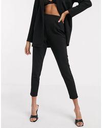 ASOS Jersey Pantalon Met Smaltoelopende Pijpen - Zwart