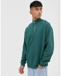 ASOS – es Oversized-Sweatshirt - Grün