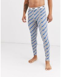 ASOS Lounge Pyjama megging With All Over Slogan Print - Blue