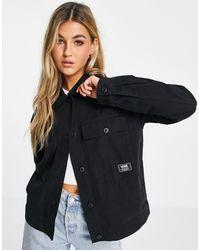 Vans Черная Куртка Clark-черный Цвет