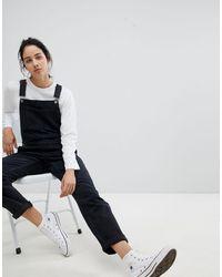 ASOS Salopette en jean - délavé - Noir