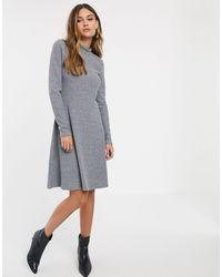 Y.A.S Трикотажное Платье Мини В Рубчик -серый