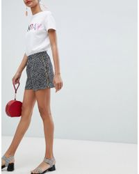 Pieces - Spot Short With Tape Side Detail - Lyst