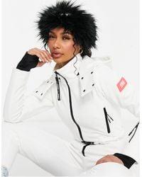 ASOS 4505 Ski Faux Fur Headband - Black