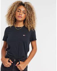 Tommy Hilfiger T-shirt coupe classique à logo drapeau - Noir