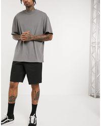 ASOS Relaxed Skater Chino Shorts - Black