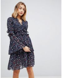 Walter Baker - Dianna Floral Print Layered Dress - Lyst