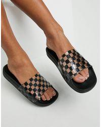 Vans Zoe Checkerboard Sliders - Black