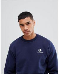 Converse – Marineblaues Sweatshirt mit Logo, 10008816-A02