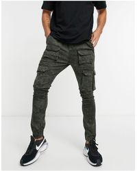Good For Nothing Cargo Trousers With Pockets - Green