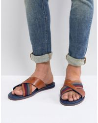 Ted Baker - Farrull Leather Sandals - Lyst