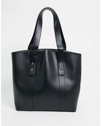 ASOS Clean Shopper With Dome Studs - Black