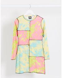 The Ragged Priest Платье Миди С Контрастными Вставками И Принтом Тай-дай -мульти - Многоцветный