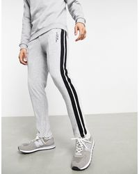 The Couture Club Staight Leg Side Tape Velour Trackies - Grey