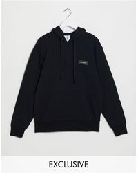 Collusion Branded Hoodie - Blue