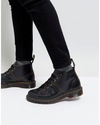 Dr. Martens - Church Monkey Lace Up Boots In Black - Lyst