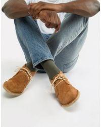 ASOS Desert boots cuoio scamosciati - Multicolore