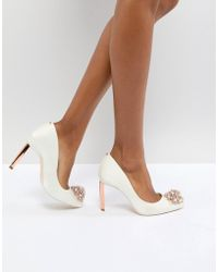 Ted Baker - Tie The Knot Peetch Embellished Bridal Shoes - Lyst